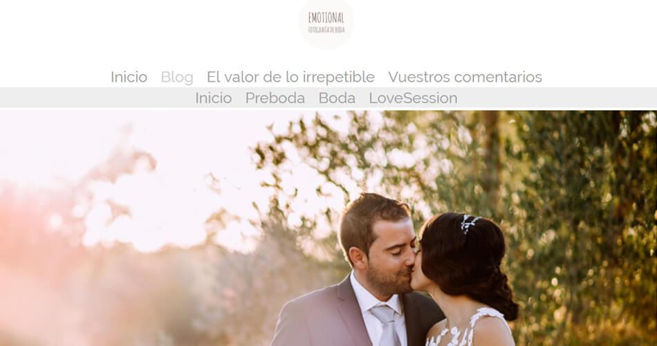Web de fotógrafo de bodas en Málaga