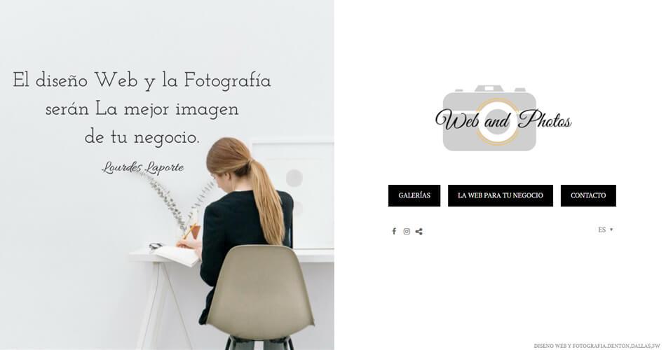 Fotografía y diseño web en Texas