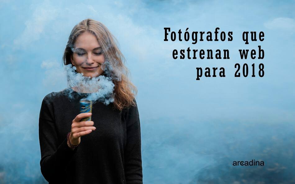 Fotógrafos con nueva web en 2018