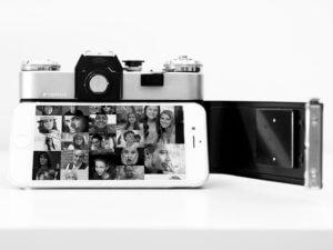 Cámara y móvil fotografía