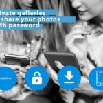 Private galleries to share your photos with password protection
