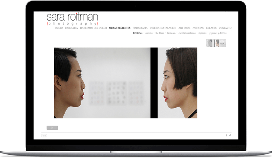 Web de fotografía de Sara Roitman fotógrafa