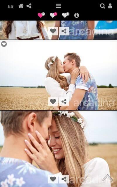 selección de fotos desde el móvil