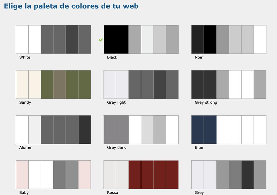 Paletas de colores de Arcadina (I)