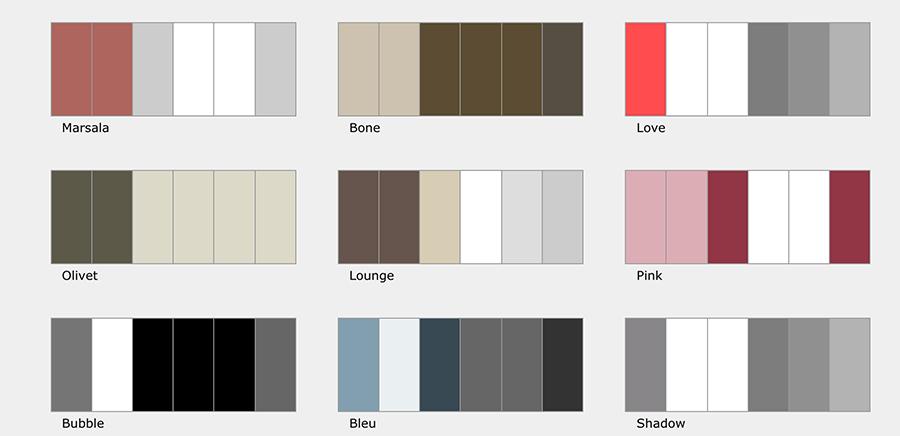 Paletas de colores de Arcadina (y III)