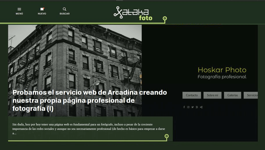 Xataka Foto analiza el servicio web de Arcadina