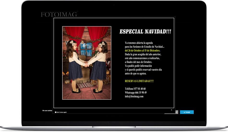 venta de sesiones fotográficas de Navidad de FotoImag