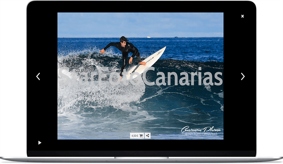 Star Foto Canarias no nos paga a Arcadina ninguna comisión por la venta de sus fotos