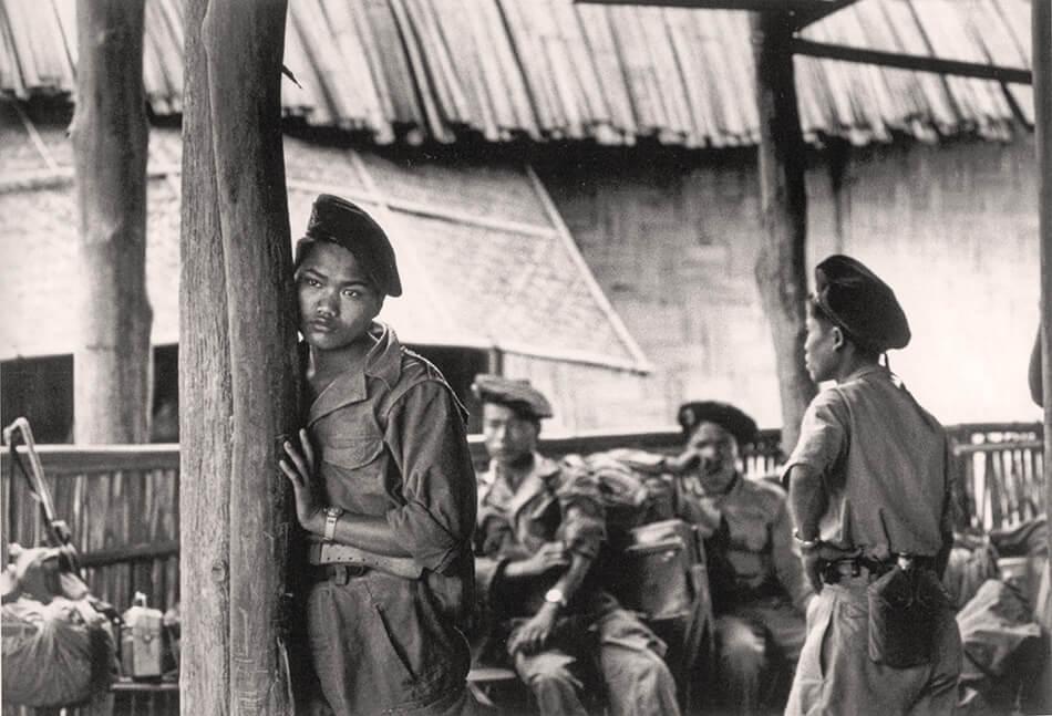Fotografía de Robert Capa en Indochina.