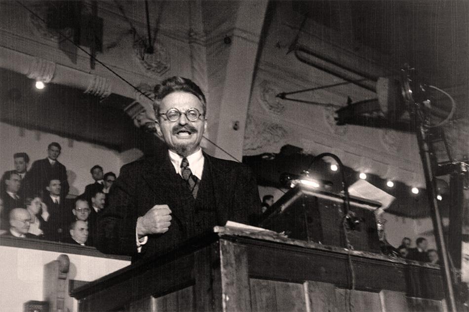 León Trotsky en la Conferencia de Copenhague de 1932