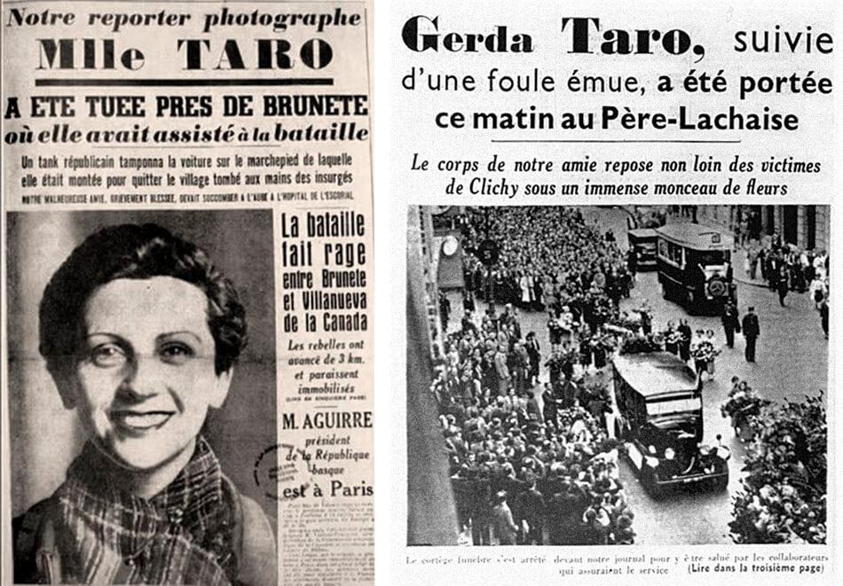 Muerte y entierro de Gerda Taro
