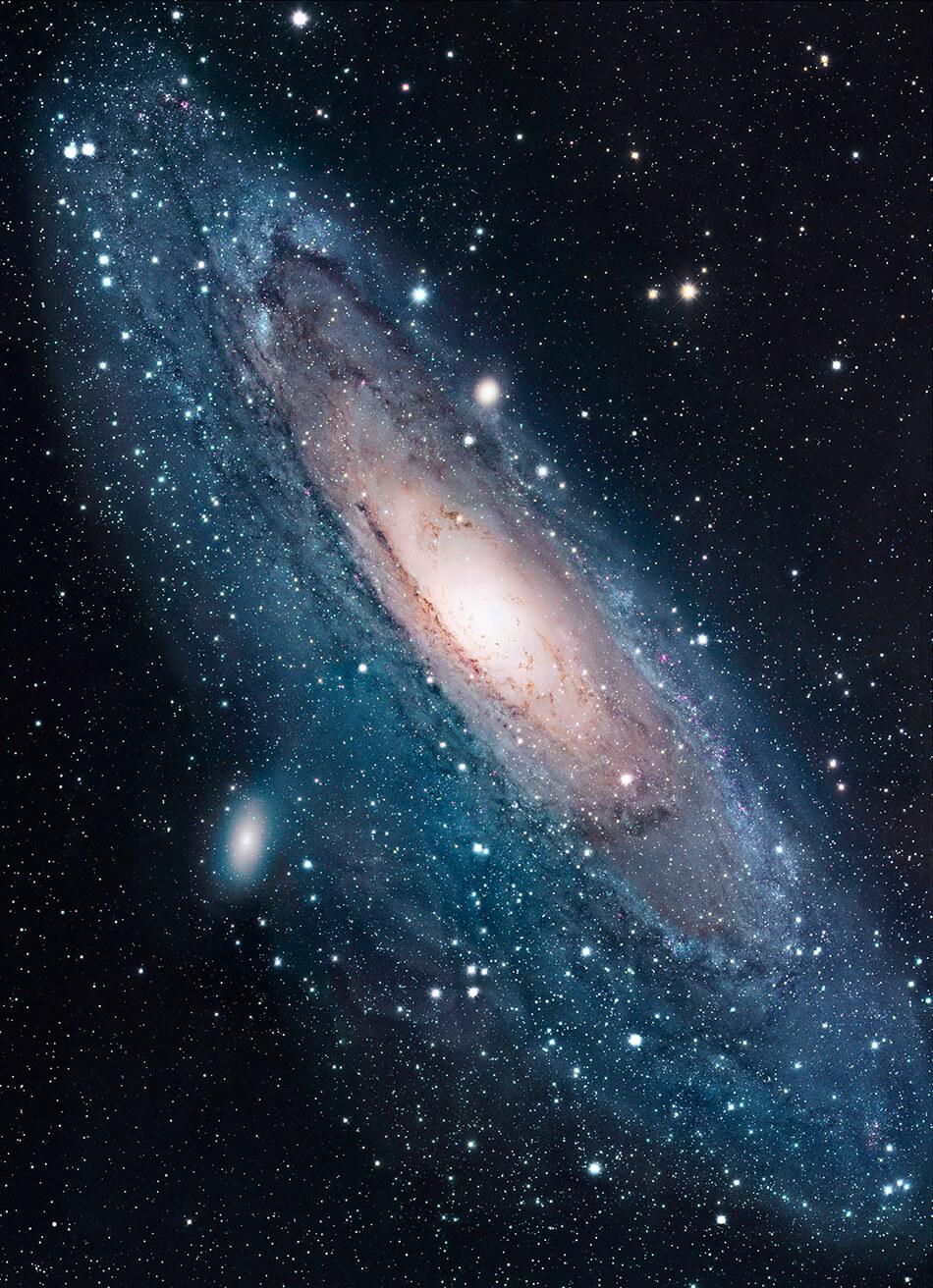 Hubble. Galaxia Andrómeda