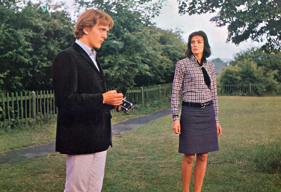 David Hemmings y Vanessa Redgrave en la escena del parque de Blow-Up